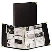 "Samsill® Classic™ Vinyl Business Card Binder, 2"" x 3 1/2"", 200-Capacity, Ebony (81080)"