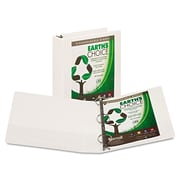 Samsill® Earth's Choice Heavy-Duty Round Ring View Binder, 8 1/2 x 11, View, Each (18967)