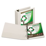 Samsill® Earth's Choice Heavy-Duty Round Ring View Binder, 8 1/2 x 11, View, Each (18987)