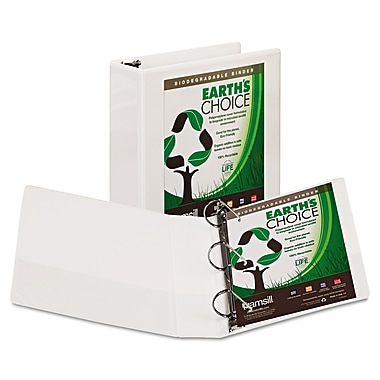 Samsill® Earth's Choice™ Heavy-Duty Biodegradable D-Ring View Binder, 8 1/2 x 11, View, Each (16987)