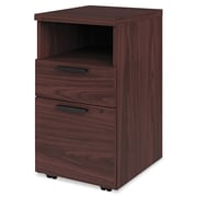 HON® 10500 Series™ Mobile Pedestal File, 2 Drawer(s), Mahogany, Legal; Letter (H105109.NN)