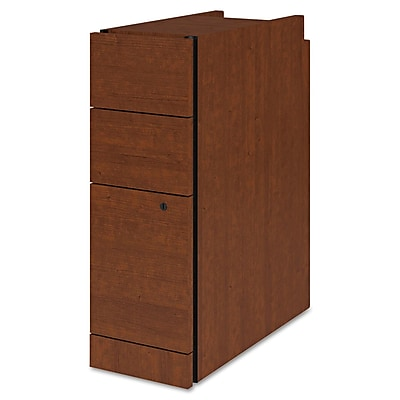 HON® Narrow Box/Box/File Pedestal, 3 Drawer(s), Henna Cherry, Legal; Letter (H105093.J)