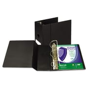"Samsill Clean Touch Antimicrobial Standard 5"" 3-Ring Non-View Binder, Black (16300)"
