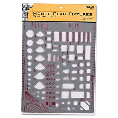 Chartpak House Plan Fixtures Template