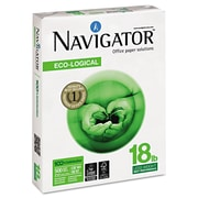Navigator® Eco-Logical Paper, 8 1/2 x 11, Bright White, 5000/Carton (NEL1118)