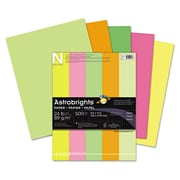 "Wausau Paper® Color Paper, Neon Assortment, 8 1/2""(W) x 11""(L), 500/Ream"