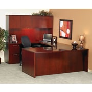 Mayline® Luminary Series Wood Veneer Bow Front Desk Shell, 72w x 42d x 29h, Cherry (DK3672C)