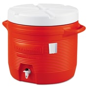 Rubbermaid® Water Coolers 1655-01-11, 7 gal, Plastic, Orange/White, Each (325-1655-01-11)