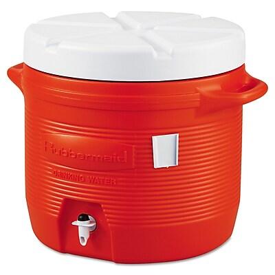 Rubbermaid® Water Coolers 1655-01-11, 7 gal, Plastic, Orange/White, Each (325-1655-01-11)
