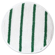 "Rubbermaid® Commercial Low Profile Scrub-Strip Carpet Bonnets, 17"" Diameter, White/Green, 5/Pack (RCP P267)"