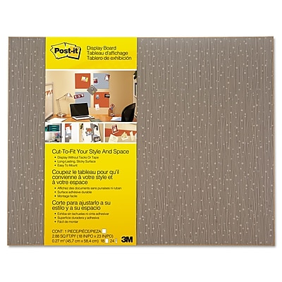 Post-it Cut-to-Fit Display Board, Mocha, 18