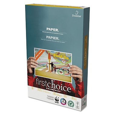 Domtar First Choice® ColorPrint® Premium Paper, White, 11