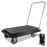 deflecto® Heavy-Duty Platform Cart, 21 x 33 x 37, Black, Each (CRT530004)