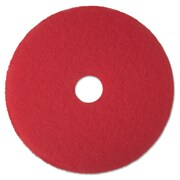 3M Red Buffer Floor Pads 5100, 14 in, Red (MCO 08389)
