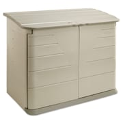"Rubbermaid® Horizontal Storage Shed 3747-01-OLVSS, 56 1/2"" x 32"" x 48"", Olive/Sandstone, Each (325-3747-01-OLVSS)"