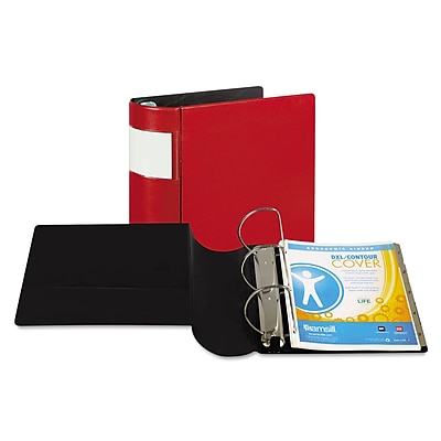 Samsill® DXL™ Heavy-Duty Locking D-Ring Binder with Label Holder, 8 1/2 x 11, Non-View, Each (17603)