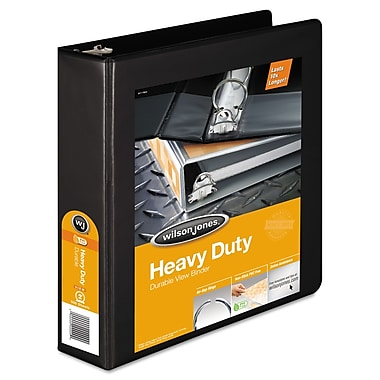 Wilson Jones® Heavy-Duty Round Ring View Binder with Extra-Durable Hinge, 8 1/2 x 11, View, Each (W363-44BAPP2)