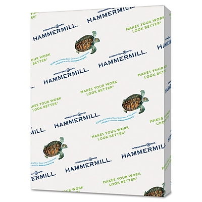 Hammermill® Recycled Colored Paper, 8 1/2 x 11, Green, 5000/Carton (103366)