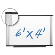 "3M Porcelain Dry Erase Boards, White, 48"" X 72"" X 1"" (P7248A)"