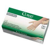Curad® Stretch-Vinyl Exam Gloves, Beige, Medium, 150/Box (CUR9225)