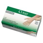 Curad® Stretch-Vinyl Exam Gloves, Beige, Medium, 150/Box (CUR9225)