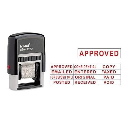 Trodat® Self-Inking Stamps, Red, Each (USS-E4822)