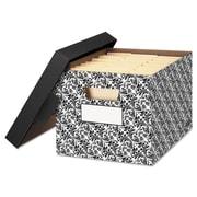 Bankers Box® STOR/FILE™ Decorative Medium-Duty Storage Boxes, 4/Carton (FEL0022705)