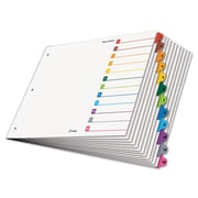Cardinal® 11 x 17 OneStep® Printable Table of Contents and Dividers, Paper, White, 11 x 17, 12-Tab, 1/Set (84895)