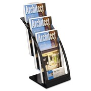 deflecto® Three-Tier Literature Holder, Plastic, Each (DEF693604)