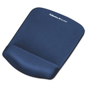 "Fellowes® PlushTouch™ Wrist Rest with FoamFusion™ Technology, Rubber, 7 1/4"" x 9 3/8"" x 1"", Solid Color, Blue (9287301)"