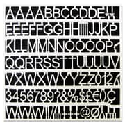 """MasterVision Plastic Letters, Numbers & Symbols, White, 1"""", 270/Pack"""