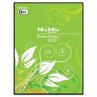 DAX Coloredge Poster Frame, Plastic, 18 x 24, Black, Each (N16018BT)