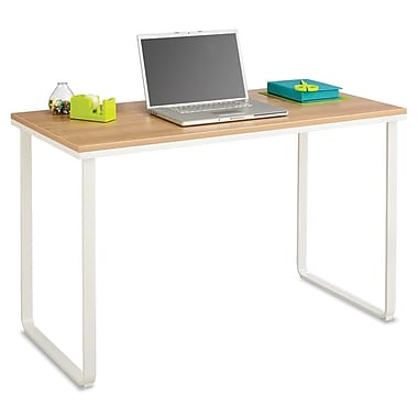 Safco®, Steel Workstation, 47-1/4w x 24d x 28-3/4h, Beech/White, Laminate (1943BHWH)