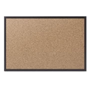 "Quartet® Cork Bulletin Board with Black Aluminum Frame, 36"" x 24"" (2303B)"