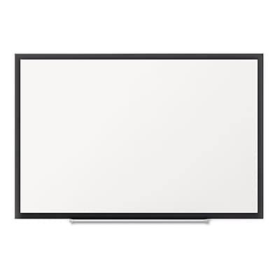 Quartet® Classic Magnetic Whiteboard, Black Aluminum Frame, 3'W x 2'H(SM533B)