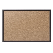"Quartet® Cork Bulletin Board with Black Aluminum Frame, 72"" x 48"" (2307B)"