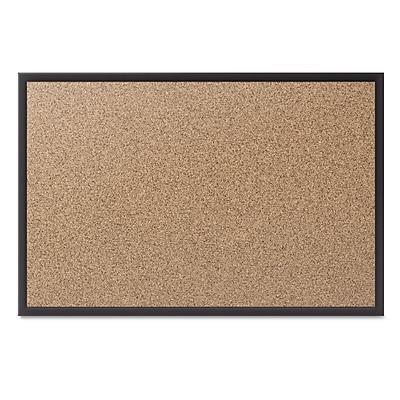 Quartet® Cork Bulletin Board with Black Aluminum Frame, 72
