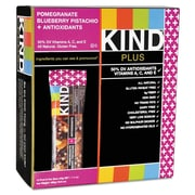 KIND Plus Nutrition Boost Bars, Pomegranate Blueberry Pistachio plus Antioxidants, Snack Bar, 1.4 oz (17221)
