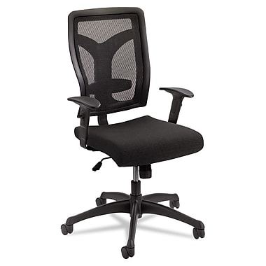 Safco Voice Fabric Computer and Desk Office Chair, Adjustable Arms, Black (5086BL)