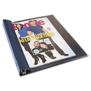 Advantus Catalog/Magazine Binder, Clear; Navy Blue, Each (AVT-ANG120D)