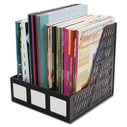 "Advantus Magazine File, 10"" x 10 1/4"" x 10 1/4"", Black, Each (AVT-34091)"