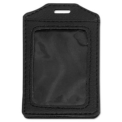 """""Advantus Leather-Look Badge Holder, Black, 2 1/2"""""""" x 3 1/2""""""""', 5/Pack (AVT-76341)"""""" AVT76341"