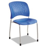Safco® Reve™ Guest Chair with Straight Legs, Steel, Multi-Use Lapis/Silver, 2/Carton (6805LA)