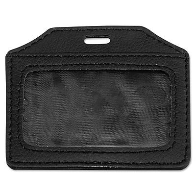"""""""""""Advantus Leather-Look Badge Holder, Black, 3"""""""""""""""" x 4"""""""""""""""", 5/Pack (AVT-76342)"""""""""""" AVT76342"""