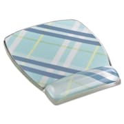 "3M Fun Design Clear Gel Mouse Pad Wrist Rest, Plastic, 6 4/5"" x 8 3/5"" x 3/4"", Plaid (MW308PL)"