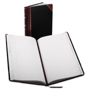 Boorum & Pease Record and Account Book with Black and Red Cover, Record and Account, 8.6 inch x 14.3 inch... by