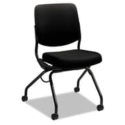 HON® Perpetual® Series Folding Nesting Chair, 100% Polyester, Armless, Black (HONPN1AUUCU10T)