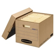 Bankers Box Mystic Heavy-Duty Instant Set-Up Storage Boxes with Lift-Off Lid, Letter/Legal, Kraft, 25/Ct (7150001)
