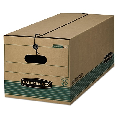 Bankers Box® STOR/FILE™ Medium-Duty Strength Storage Boxes, Letter, Kraft/Green, 12/Carton (00773)