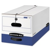 BANKERS BOX® Liberty® Heavy Duty Storage Boxes, Legal, White/Blue, 12/Carton